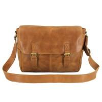 Messenger Bag Kulit Premium Dybala Havana