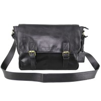 Messenger Bag Kulit Premium Dybala Black