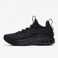 f0b4f10d566 Sepatu Basket Nike Lebron 15 Low Triple Black Original AO1755-004