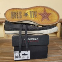 Sepatu Converse x John Varvatos Ctas Ox Leather Black Turtle