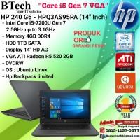 "HP 240 G6-HPQ3AS95PA (14""Inch) Core i5-7200U/4GB/1TB/VGA2GB/DOS/1YEAR"