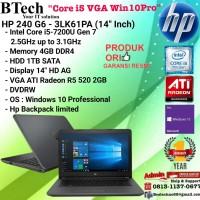 "HP 240 G6-3LK61PA (14""Inch)Core i5-7200U/4GB/1TB/VGA2GB/Win10PRO/1YEAR"
