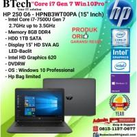 "HP 250 G6 - HPNB3WT00PA (15""Inch)Core i7-7500U/8GB/1TB/DVDRW/W10/1YR"
