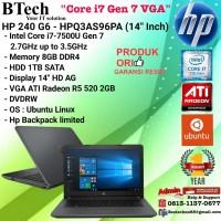 "HP 240 G6-HPQ3AS96PA (14""Inch) Core i7-7500U/8GB/1TB/VGA2GB/DOS/1YEAR"