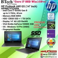 HP Probook 440 G5 - HPNB2YS26PA Core i7-8550U/8GB/1TB+128GB/W10/1YR
