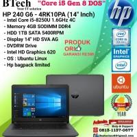 "HP 240 G6 - 4RK10PA (14""Inch) Core i5-8250U/4GB/1TB/DOS/1YEAR"