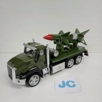 Mobil truk diecast mainan anak Military Series