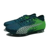 Sepatu Bola Puma 18.4 FG (Deep Lagoon/White/Green) Berkualitas