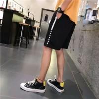 Celana Pendek Casual Elastis Model Sambungan untuk Pria Diskon