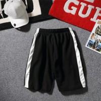 Celana Pendek Casual Pria Model Sambungan untuk Jogging Diskon
