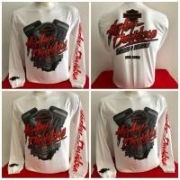 Kaos Harley Davidson Long Sleeve - Miami Florida-White Diskon