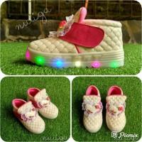 Ima Sepatu Anak Perempuan Led Boots Karakter - 24, Putih Berkualitas