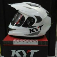 Helm KYT Enduro Solid Glossy Supermoto Original Full Face