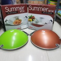 Maspion Alcor Summer Wok Roller Coating 35 CM Panci Wajan Penggoreng
