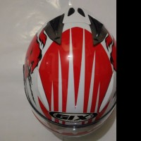 HELM GIX X RAY SERIES RED BULL WHITE RED