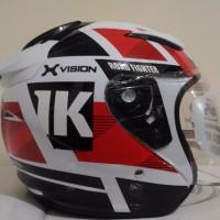 HELM NHK R 1 NEURO WHITE RED DOUBLE VISOR