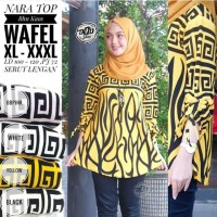 NARA TOP BLOUS Waffle Lemon SKin GROSIR MAXI DRESS ATASAN MURAH