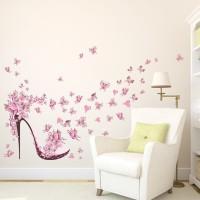 Dekorasi Rumah: Stiker Dinding Gambar Kupu-Kupu DIY Decal Krea