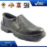 Sepatu Safety Shoes Murah Slip On (Hitam)