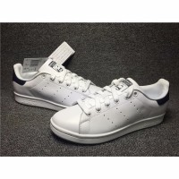 ORI CINA Sepatu Sneakers Casual Desain Adidas Stan Smith Warna Biru