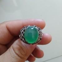 batu hijau ring perak
