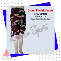 Celana Senam Pendek Army Kantong | Celana Olahraga | Dimen Sport