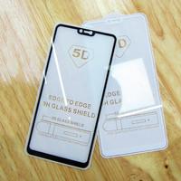 Temperd Glass 9H 5D Full Glue Black Ultra Thin Screen Guard HP Oppo F7