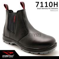 Sepatu Safety Shoes Cheetah 7110H Hitam Karet Elastic Termurah