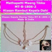 Mathapatti Maang Tikka MT-B-1806-2-Hiasan Rambut Kepala Dahi Headpiece