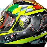 Helm KYT R10 CIRCUIT SAN MARINO - KACA FLAT VISOR