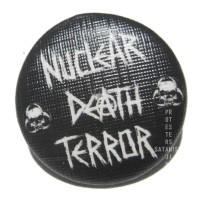 PIN BUTTON BAND NUCLEAR DEATH TERROR 2,5cm