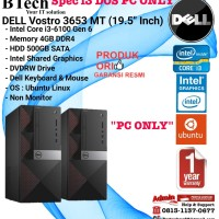 DELL Vostro 3653 MT Intel Core i3-6100/4GB/500GB/1YR PC ONLY