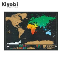 Poster Peta Dunia Luckies Deluxe Scratch World Map