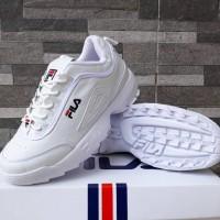 Sepatu Fila Disruptor II Putih Sneakers Casual Sport Wanita Import