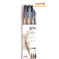 Uni Pin-200-3C DRAWING PEN NEW !!! set isi 3 pcs 2color 2size