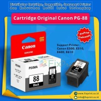 New Cartridge Canon PG88 PG-88 Ori Printer Canon E500 E510 E600 E610