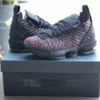 ecbea1cb037b sepatu basket nike lebron 16 black multicolour grade original murah