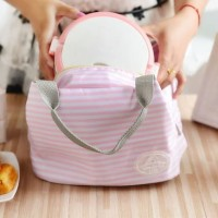 Iconic Insulated Lunch Bag Cooler Tas Bekal Makan GARIS DOT KUPU -GN87