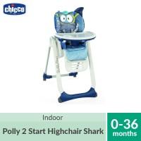 Chicco Polly 2 Start Highchair 4 Wheels Shark