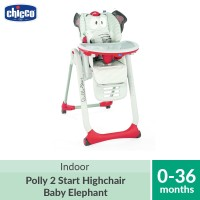 Chicco Polly 2 Start Highchair 4 Wheels Baby Elephant