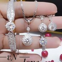 xuping set perhiasan kalung gelang cincin lapis emas 18k terlaris 2415