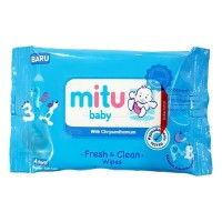 7a5387d229a5 Mitu Baby Wipes Fresh and Clean  Tissue Basah Mitu Blue isi 4 sheet