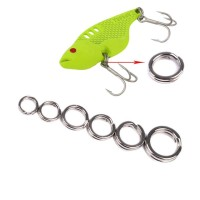 Split Ring Connector Fishing Tackle Stainless Steel 4.5mm