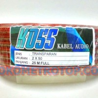 Kabel Serabut Listrik Speaker Transparant 2X50 25Meter