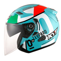 Helm KYT Venom Open Leopard Locatelli Blue Half Face Visor