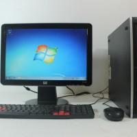 Paket Komputer HP Slim Desktop Core i5 Lengkap siap pakai