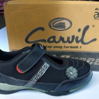 Sepatu Sekolah Anak Perempuan Full Black Hitam Carvil Aprilia TW 32