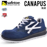 Safetoe Canapus L7328 Sepatu Safety Shoes Metal Free Composite Blue