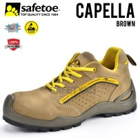 Safetoe Capella L7296 Sepatu Safety Shoes ESD Metal Free Composite