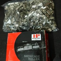 Roda Showcase Roda Pintu Kaca Lemari Etalase Aluminium Kecil HAMPTON
